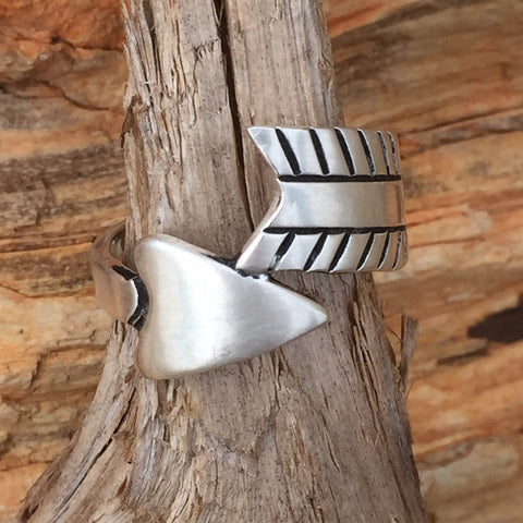 A. Wrap Around Arrow Ring Silver