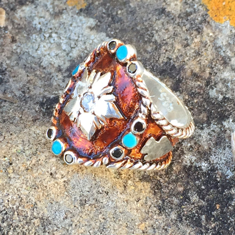 La. Vintage Copper Arrow Head Ring