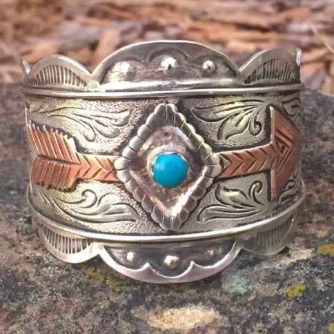 B. Turquoise Copper Arrow Bracelet