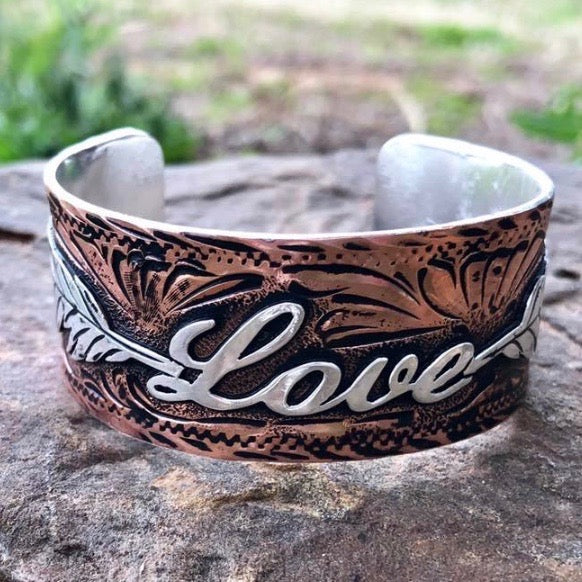 P. Love Copper Bracelet