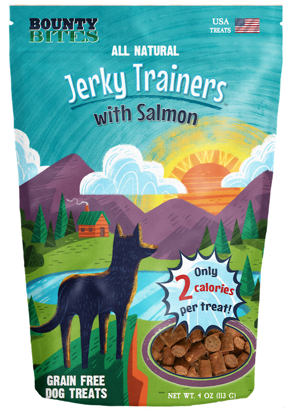 Jerky Trainers with Salmon - Training Treats by Bounty Bites