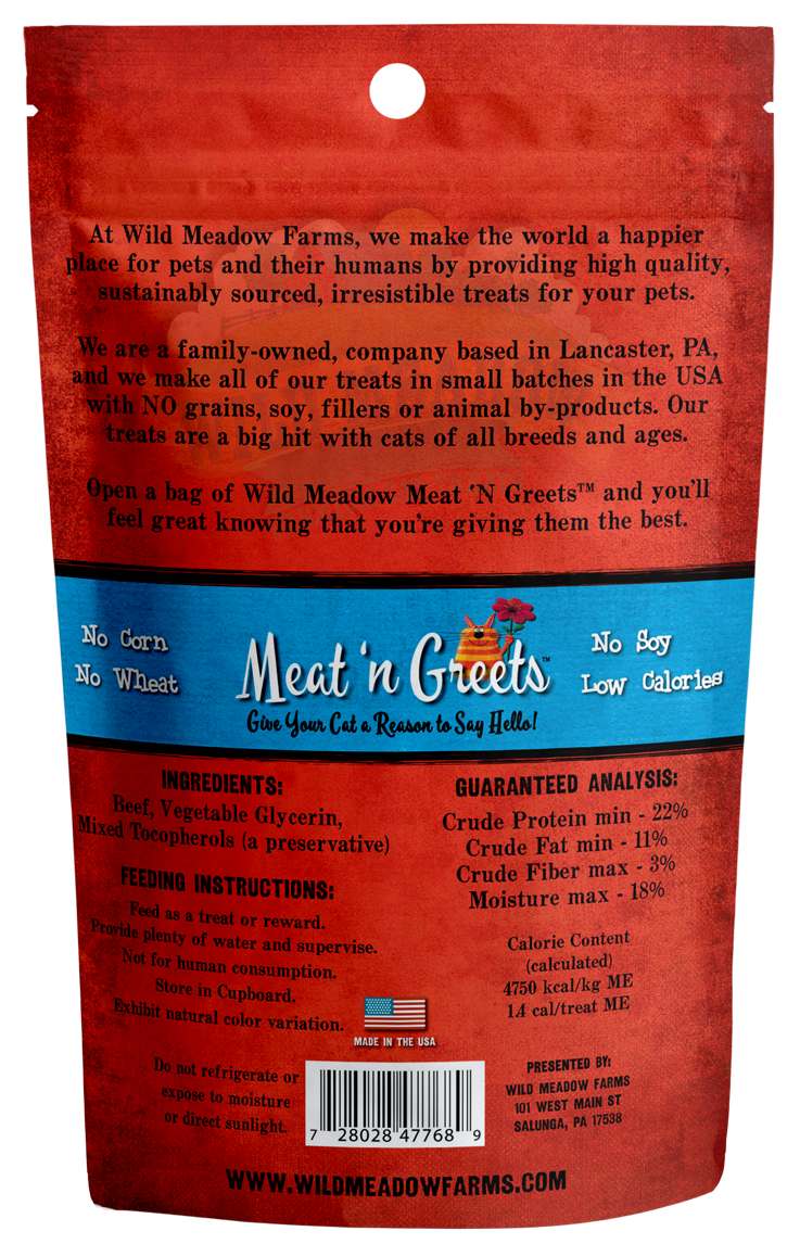 Meat 'N Greets<br/> Beef Cat Treats