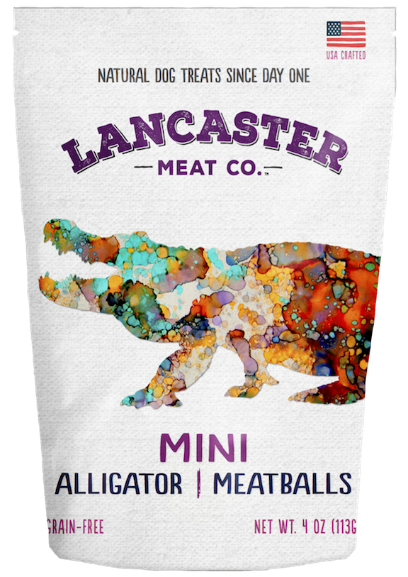 Alligator Mini-Meatballs - Dog Treats by Lancaster Meat Co