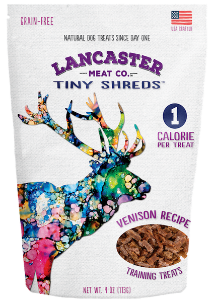 Venison Tiny Shreds - Dog Treats by Lancaster Meat Co
