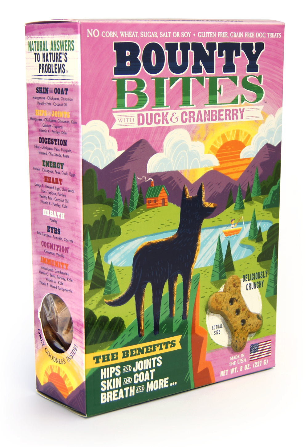 Bounty Bites Duck Cranberry Grain Free Baked Dog Treats