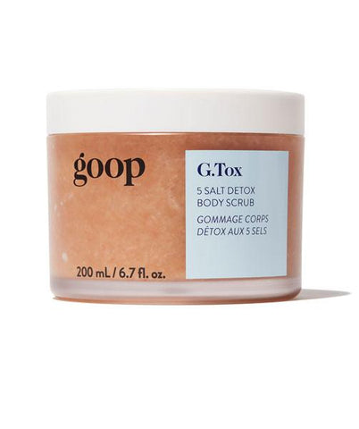 Goop G. Tox 5 Salt Body Scrub available at Gee Beauty