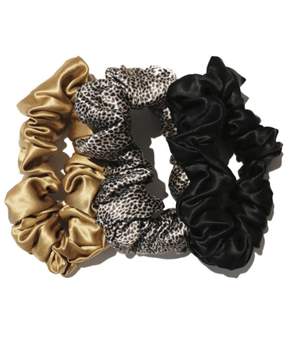 Slip - Slip Scrunchie - Leopard, Gold, Black