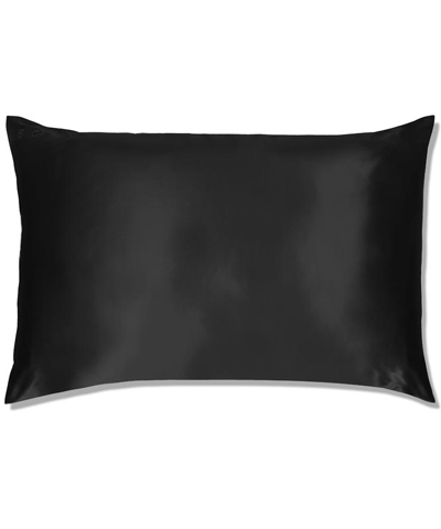 Slip - Queen Silk Pillowcase Black