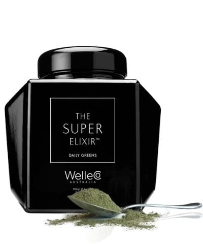 WelleCo Super Elixir - SUPER ELIXIR Greens 300g Refillable Black Caddy