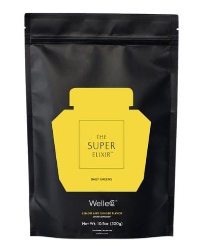 WelleCo Super Elixir - SUPER ELIXIR Greens Lemon & Ginger 300g Refill Pack