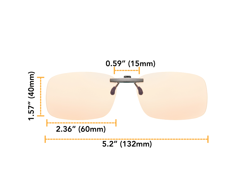 Lumin Clips night driving clip-on glasses dimensions