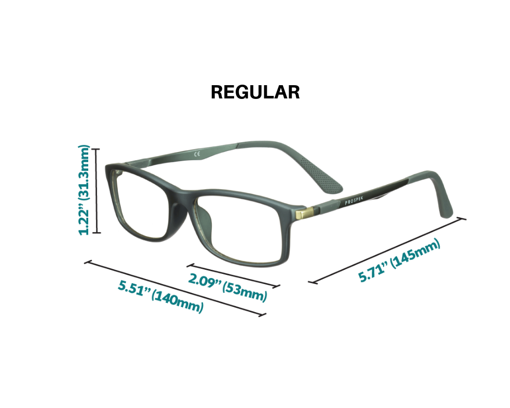 Dynamic blue light blocking glasses dimensions