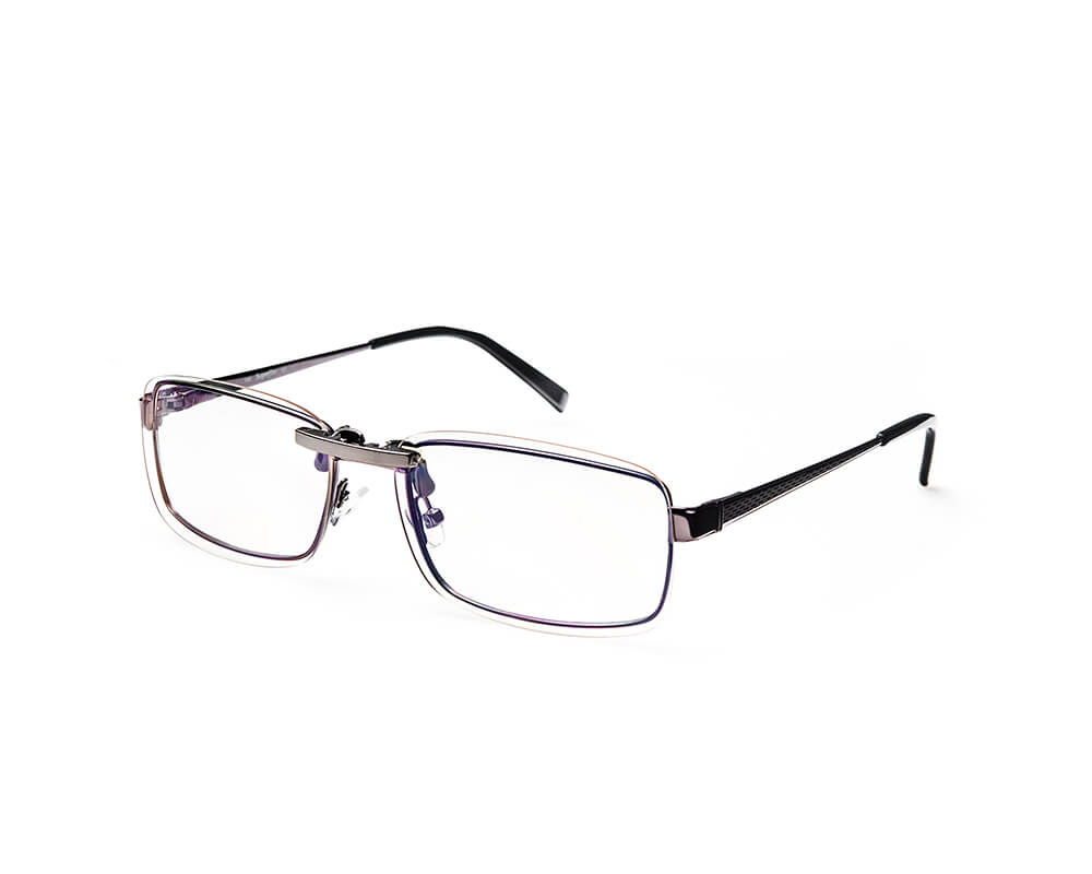 Pro blue light blocking clip-on glasses