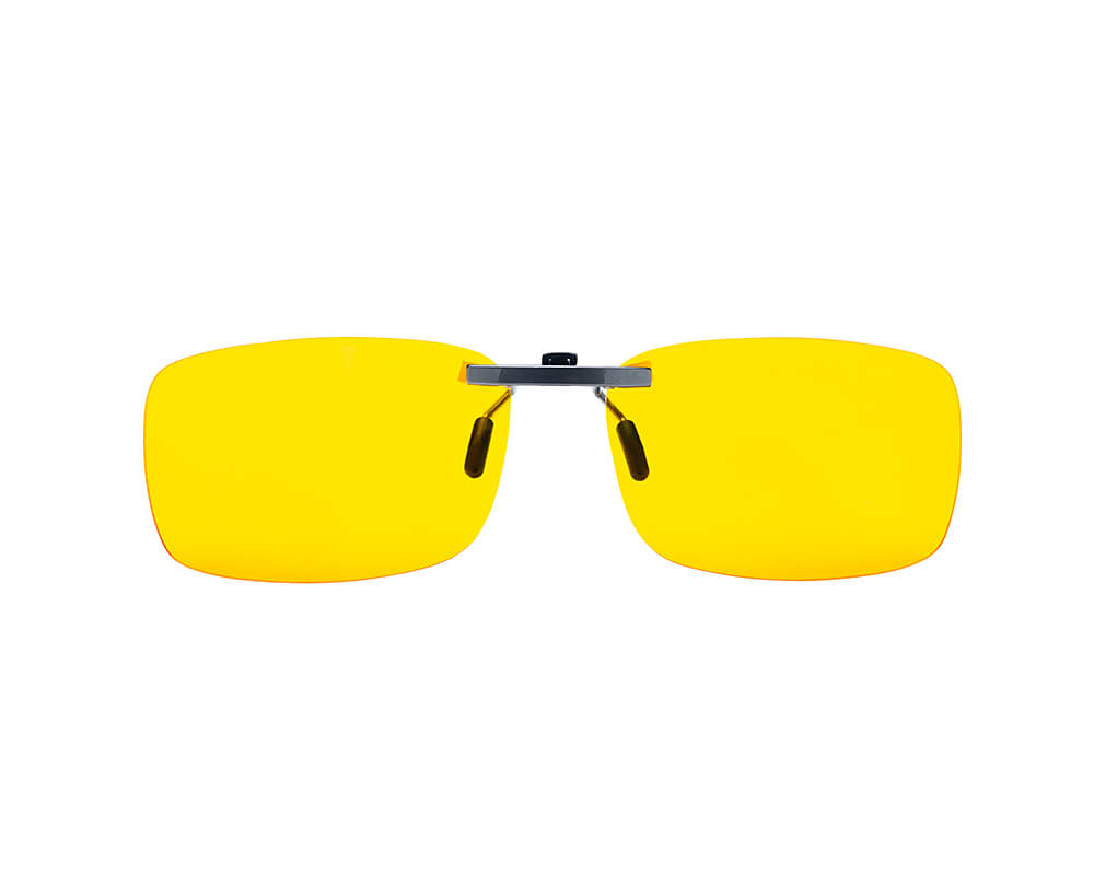 Elite blue light blocking clip-on glasses