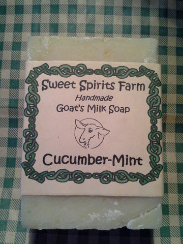 Cucumber Mint goat milk bar soap