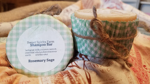 Rosemary Sage Shampoo Bar with goat milk