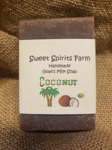 Coconut goat milk bar soap