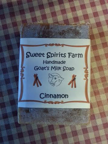 Cinnamon goat milk bar soap