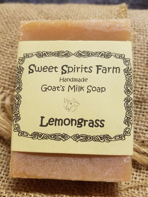 Lemongrass goat milk bar soap