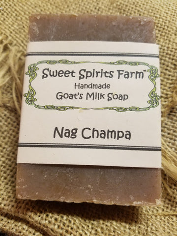 Nag Champa goat milk bar soap