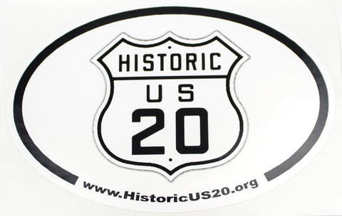 Historic Route 20 Bumper Sticker