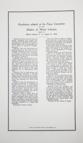 """Peace Convention"" Broadside"