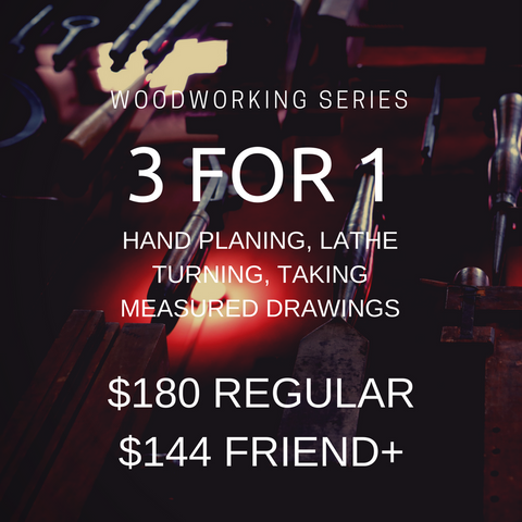 3 for 1: Woodworking Workshop Series