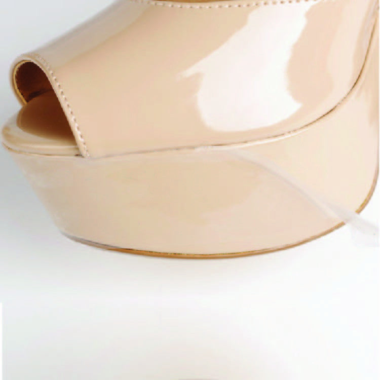 Crystal Clear Platform and Wedge toe heel protector
