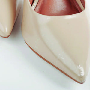 Crystal Clear Stiletto Toe Protector against scuffs final look