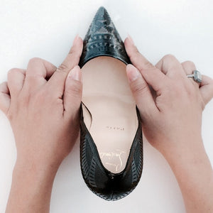 How to apply Crystal Clear Stiletto Toe Protector against scuffs