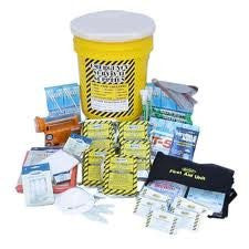 Deluxe Office Bucket Emergency Kit with Toilets (5 Person)