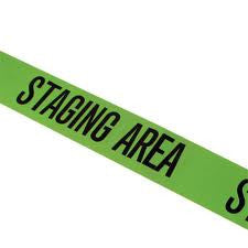 Staging Area Triage Tape 1000' (Green)