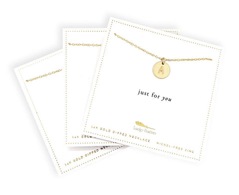 Letter Disc Necklaces