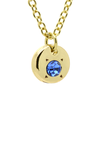 September Birthstone Bottle Necklace