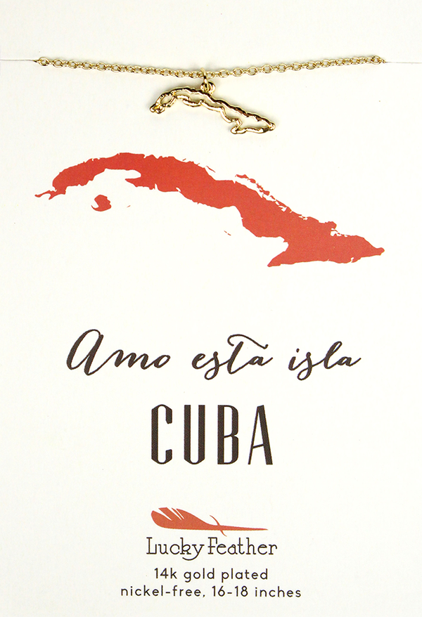Cuba Country Necklace