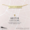 City Coordinate Necklace - Austin