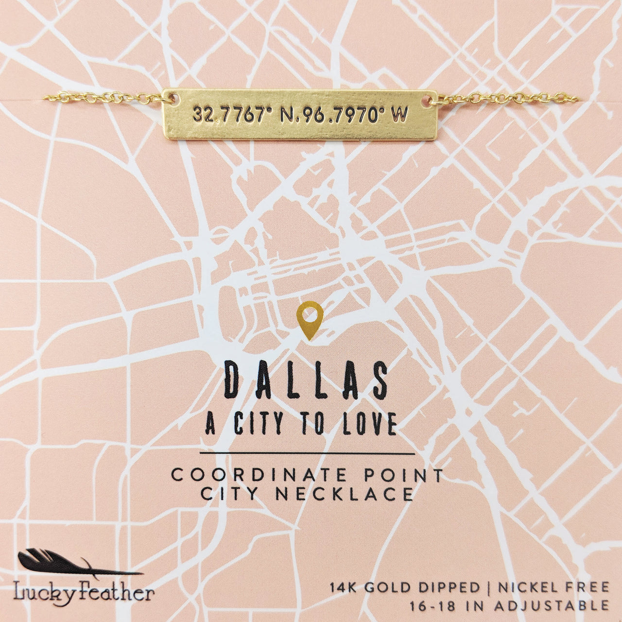 City Coordinate Necklace - Dallas