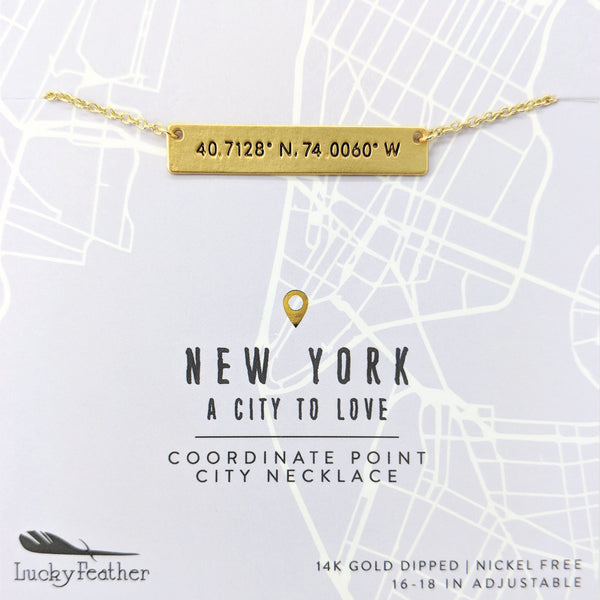 City Coordinate Necklace - New York