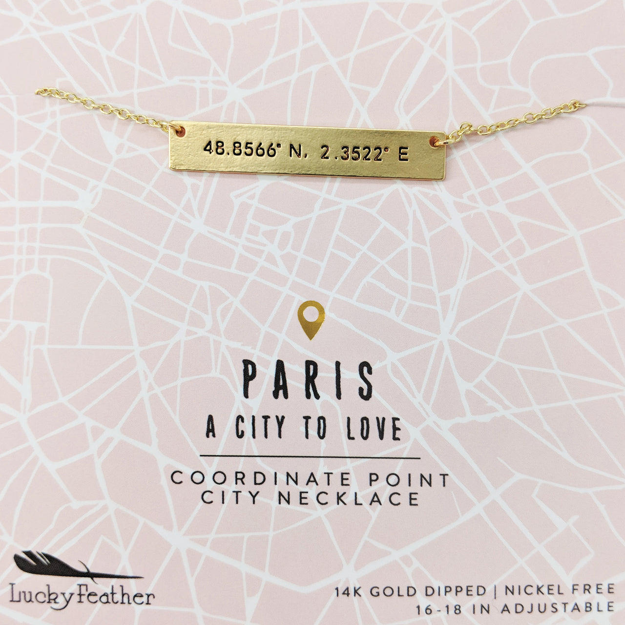 City Coordinate Necklace - Paris