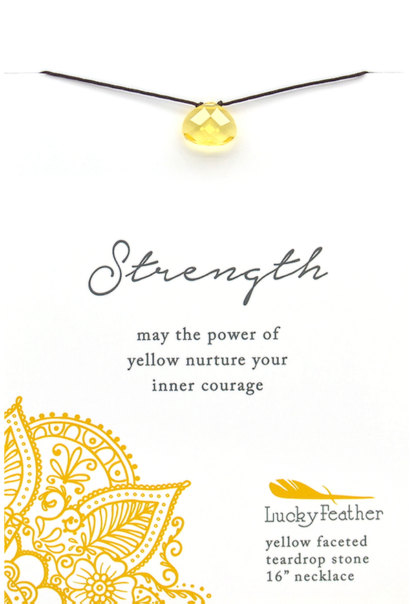 Color Power Necklace - Yellow