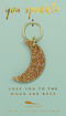 Gold Glitter Key - Shape - MOON