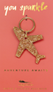 Gold Glitter Key - Shape - PLANE
