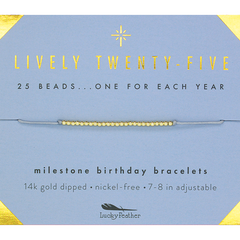 Birthday Milestone Bracelet - Lively Twenty-Five