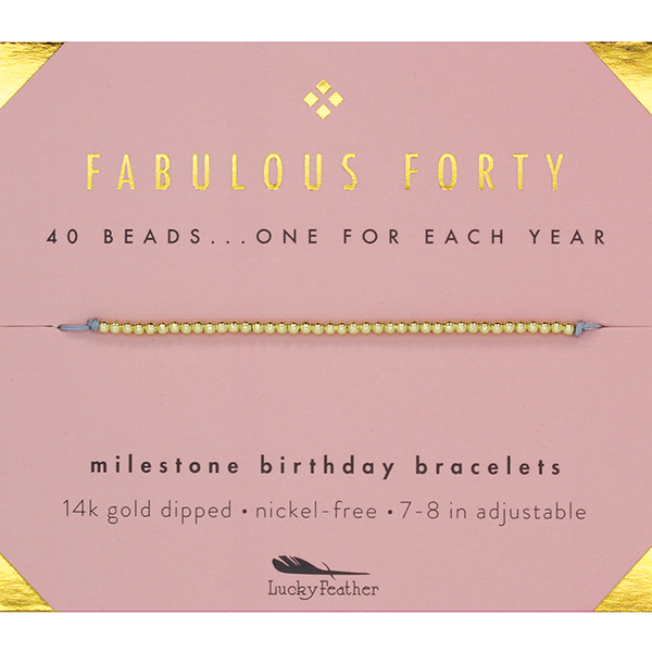 Birthday Milestone Bracelet - Fabulous Forty
