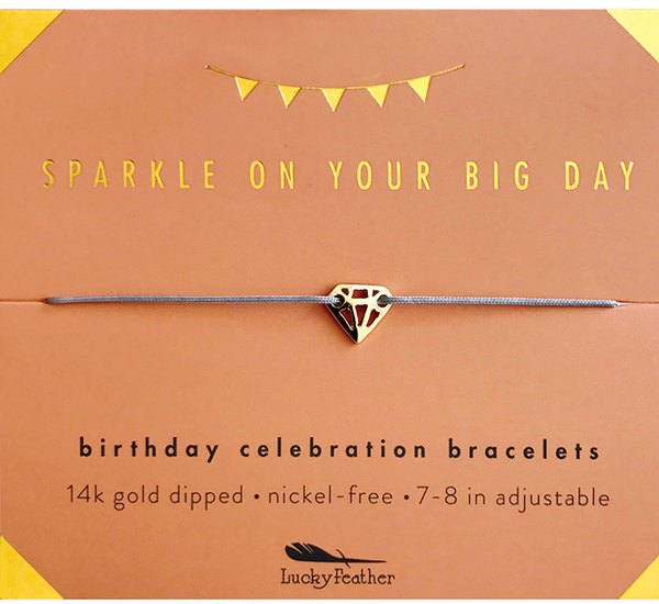 Birthday Celebration Bracelet- Sparkly Birthday