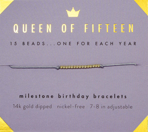Birthday Milestone Bracelet - Queen of Fifteen