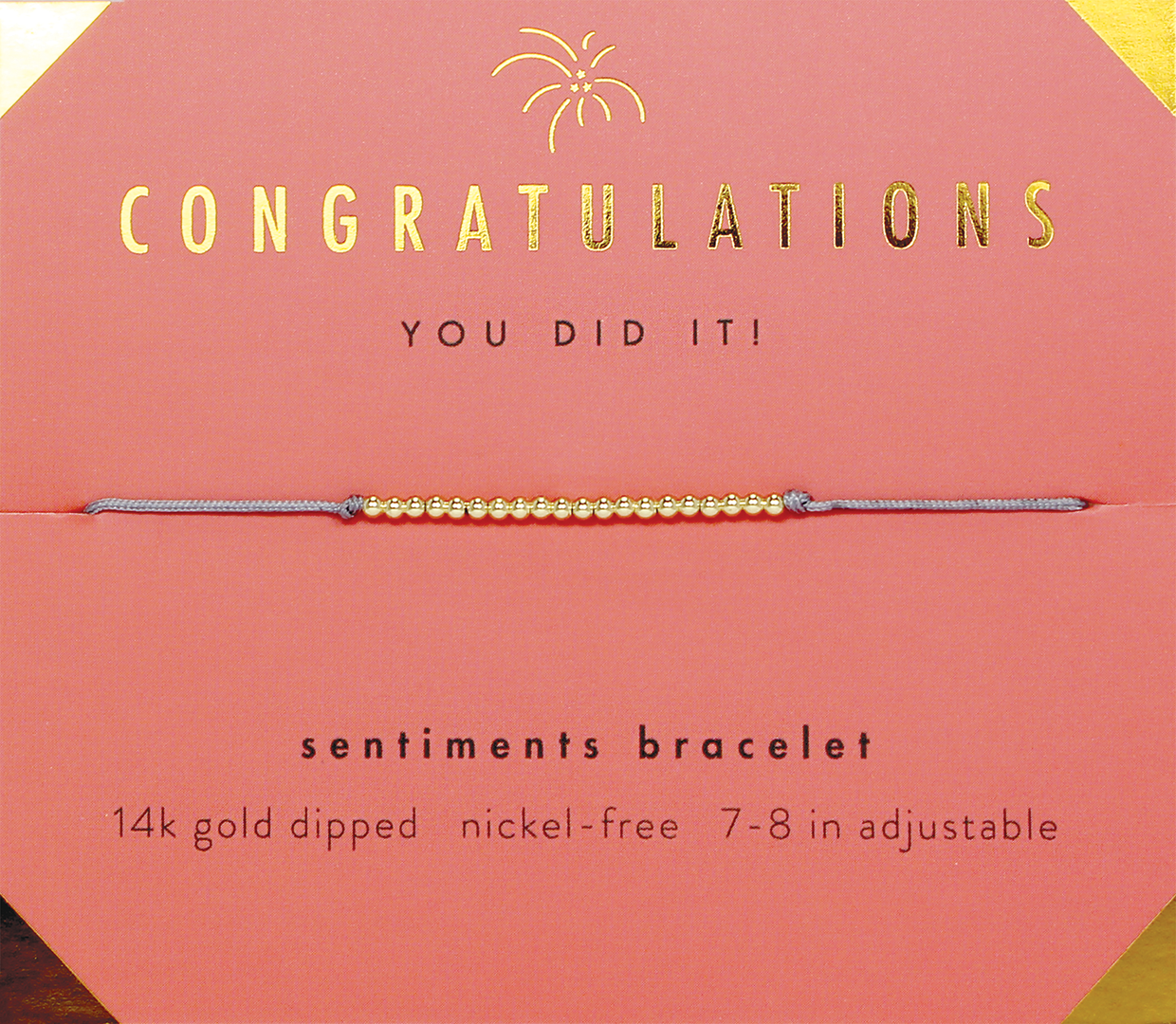 Sentiments Bracelet- Congratulations