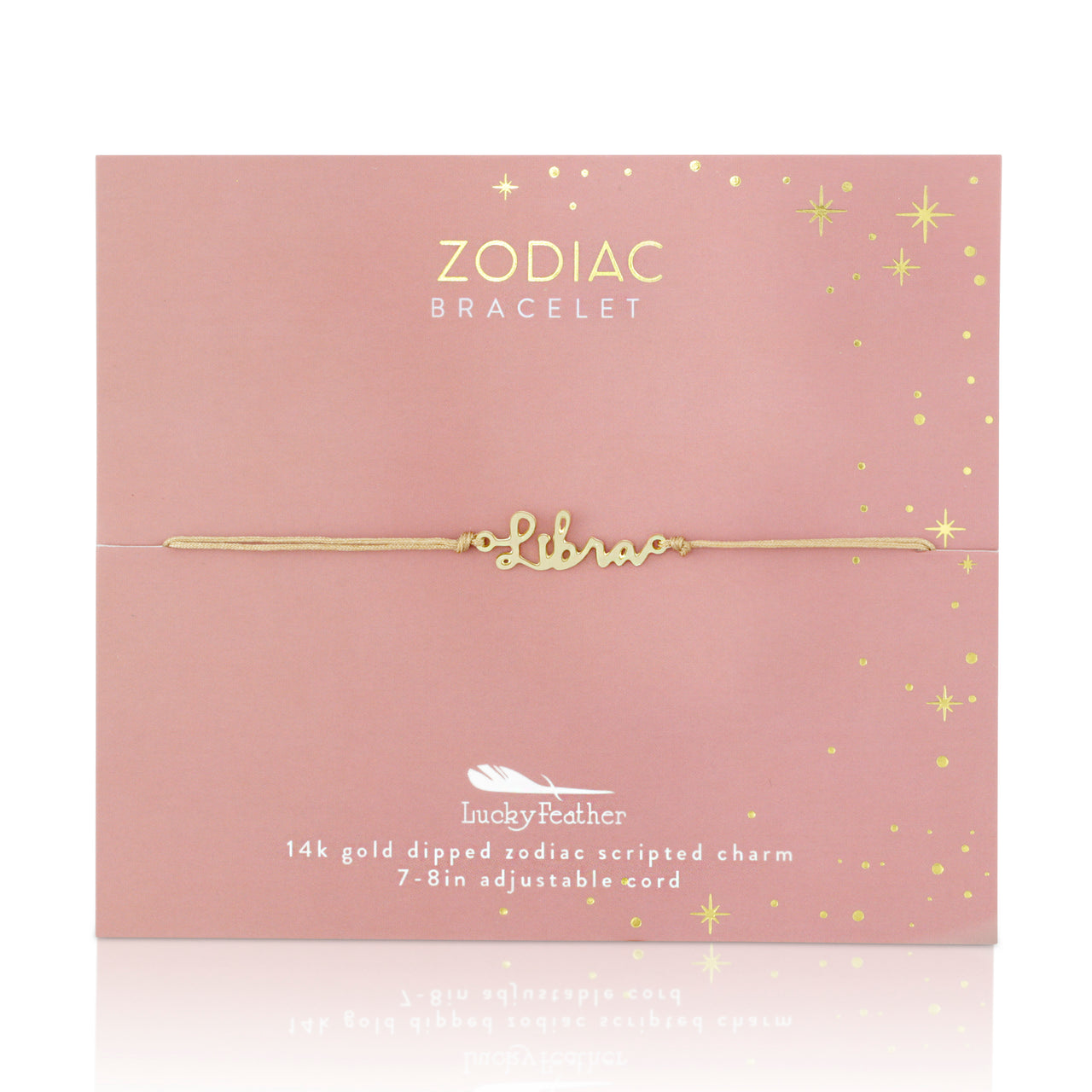 Zodiac Cord Bracelet Gold - LIBRA - September 23 - October 22