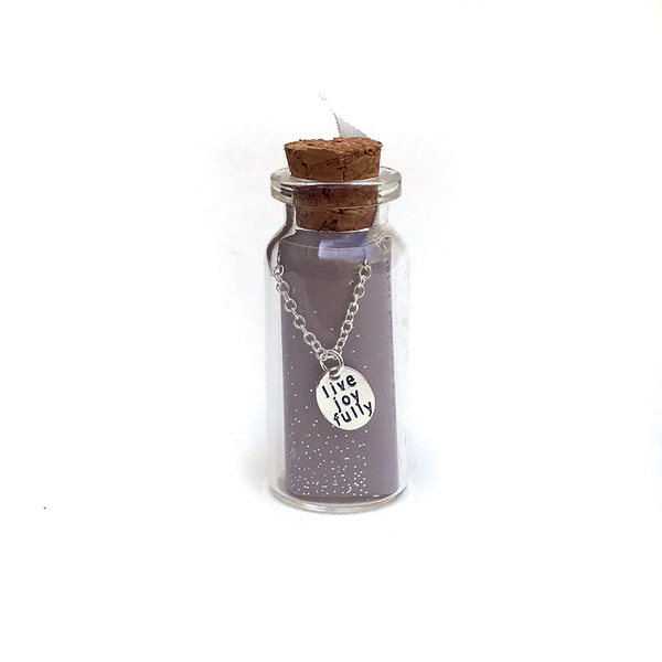 Message in Bottle New - Silver - Live Joyfully