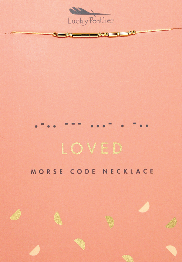 Loved - Morse Code Necklace